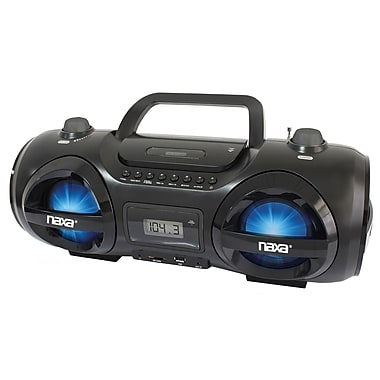 Naxa® NPB-258 MP3/CD Party Boombox and USB/SD Player, Black