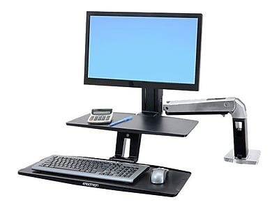 Ergotron® WorkFit-A Display Stand With Suspended Keyboard Single HD, Black