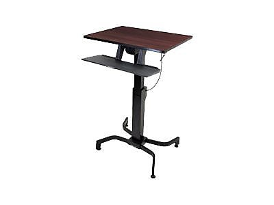 Ergotron WrokFit Work Station Sit & Stand Desk, Walnut (RC2302)