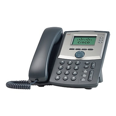 Cisco SPA303 G1 3 Line Corded VOIP Telephone, Black/Gray