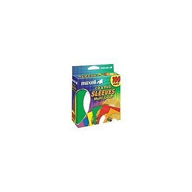 Maxell® CD/DVD Sleeves, Multi-Color, 100/Pack