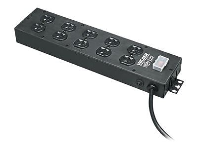 Tripp Lite UL800CB-15 Power Strip With 15' Black Cord, 10 Outlets