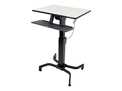 Ergotron WrokFit Work Station Sit & Stand Desk, Gray (RC2301)