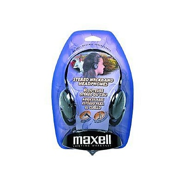 Maxell 190316 Neckband Headphone, Black