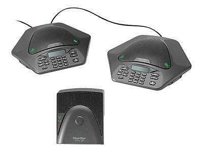ClearOne 910-158-500-00 MAXAttach Single Line Corded Tabletop Conference Phone, Black