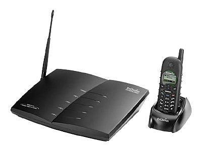 EnGenius DuraFon PRO Long-Range Multi-Line Expandable Cordless Phone System, 90 Name/Number, Black