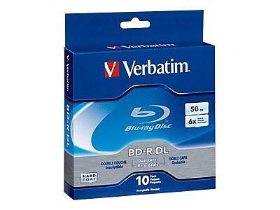 Verbatim 97238 25 GB BD-R Spindle, 10/Pack