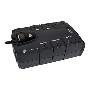 CyberPower CP825LCD 825VA 450W UPS Battery Backup & Surge Protection with 8 Outlets & LCD Display
