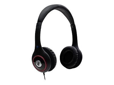 V7 HA510-2NP Deluxe Headphone With Volume Control, Black