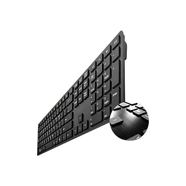 Buslink® I-Rocks KR-6402-BK X-Slim Soft Touch/Tactile Feedback Keyboard With 2 USB Ports