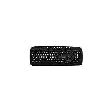 Ergoguys CD-1039 Ezsee Large Print Low Vision Keyboard With Low Profile Black Keys