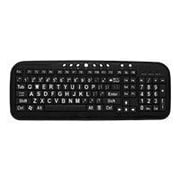 Ergoguys CD-1039 Ezsee Large Print Low Vision Keyboard With Low Profile Black Keys