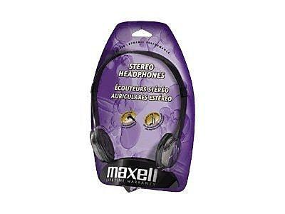 Maxell 190318 Stereo Headphone, Black
