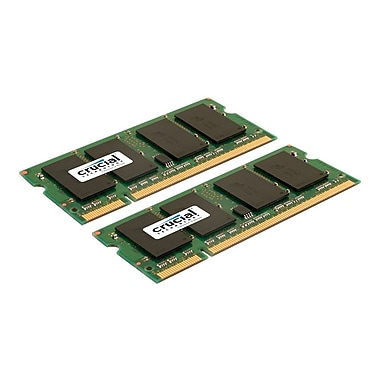 Crucial CT2KIT25664AC800 4GB (2 x 2GB) DDR2 200-Pin Laptop Memory Module Kit