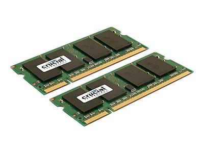 Crucial CT2KIT25664AC800 4GB (2 x 2GB) DDR2 200-Pin Laptop Memory Module Kit