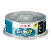 Maxell 630026 700 MB CD-RW Spindle, 25/Pack
