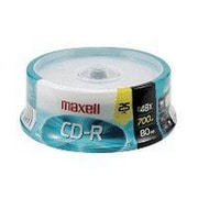 Maxell 648445 700 MB CD-R Spindle, 25/Pack