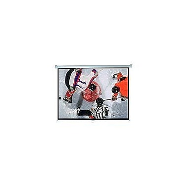 Elite Screens® Manual Series 136inch Pull Down Projection Screen, 1:1, White Casing