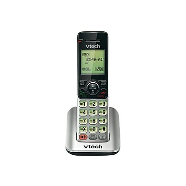 VTech® CS6609 Accessory Handset With Caller ID/Call Waiting, Silver/Black