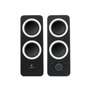 Logitech Z200 10W Multimedia Speakers with Stereo Sound for Multiple Devices, Black (980-000800)
