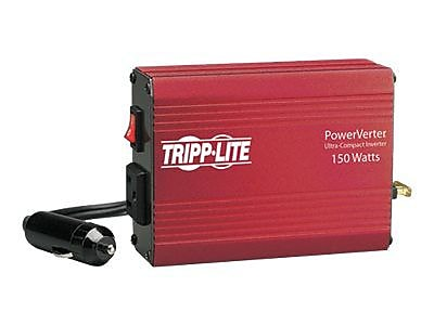 Tripp Lite PowerVerter® 150 W Ultra-Compact Inverter, 12 VDC Input, 120 VAC Output, 1 Outlet (PV150)