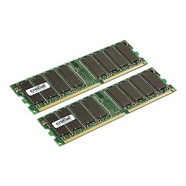 Crucial 2Gb (2 X 1Gb) Ddr (184-Pin Dimm) Ddr 333 (Pc2700) Desktop Memory Module