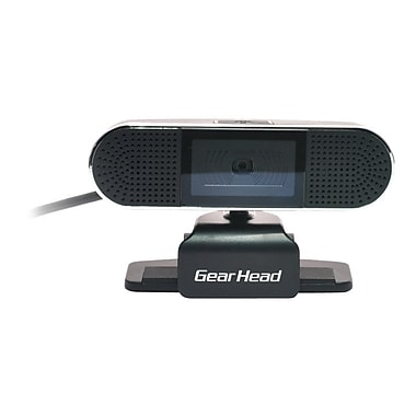 Gear Head™ WC8500HD Webcam, 1600 x 1200 HD, 8 MP, Black/Silver