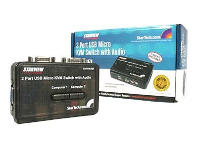 StarTech SV211KUSB USB KVM Switch Kit With Audio And Cables, 2 Ports