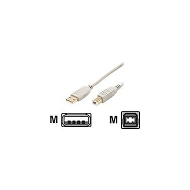 STEREN 15' USB 2.0 Type A Male to Type B Male USB Cable, Ash Grey