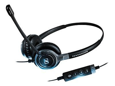 Sennheiser Century SC 660 USB ML Stereo Headset With Microphone, Black/Silver
