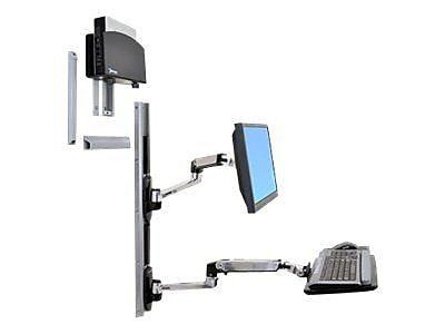 Ergotron® Healthcare 45253026 LX Wall Mount, Up To 20 lbs., Black