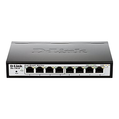 D-Link® Managed Ethernet Switch, 8 Ports (DGS-1100-08)