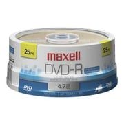 Maxell 638010 4.7 GB DVD-R Spindle, 25/Pack