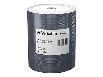 Verbatim 97019 700 MB CD-R Wrap, 100/Pack