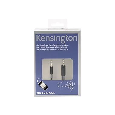 Kensington®AUX K39202US 4' Audio Cable, Black