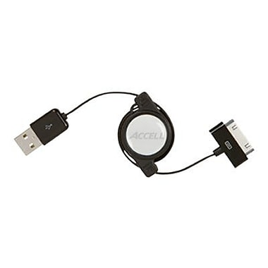 Accell® 2.6' Sync/Charge USB Cable For iPad/iPod/iPhone, Black
