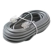 STEREN® 15' 6C Telephone Line Cord, Silver