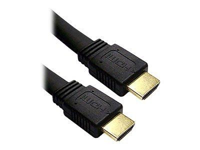 4XEM 4XHDMIFLAT10FT 10' HDMI Cable, Black