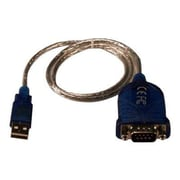 QVS 4.5' USB/DB9 Male to Female Serial Adapter Cable, Black