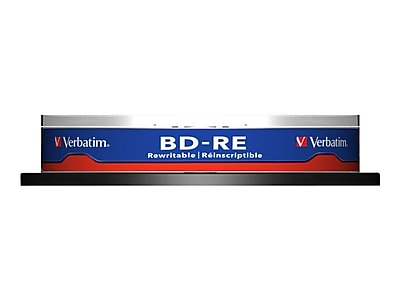 Verbatim 43694 25 GB BD-RE Spindle, 10/Pack 2756162