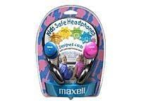 Maxell 190338 Kids Safe Over-Ear Stereo Headphone, Black