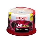 Maxell 625335 700 MB CD-R Spindle Case, 30/Pack