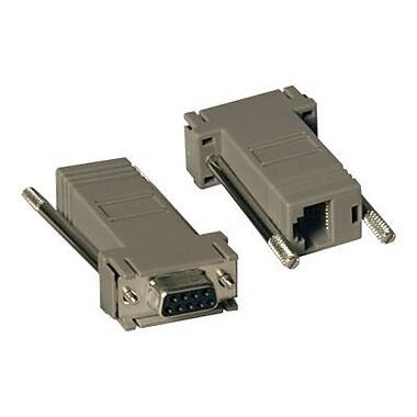 Tripp Lite Null Modem RJ45 To DB9 Adapter Kit, Gray