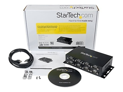 StarTech ICUSB 2328I USB to DB9 RS232 Serial Adapter Hub, 8 Ports