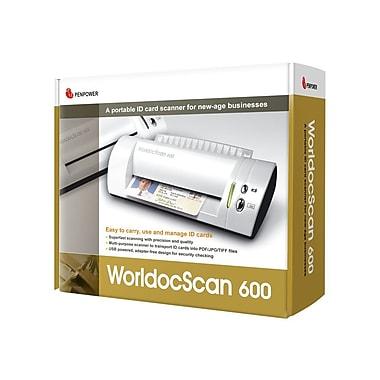 Penpower WorldocScan 600 ID Card Scanner, White