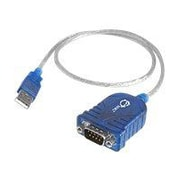 """Siig® 25"""" USB to Serial Adapter Cable, Blue"""