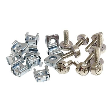 StarTech CABSCREWM5 Mounting Screws and Cage Nuts For Server Rack Cabinet, 50/Pack
