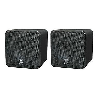 Pyleaudio® PCB4 Mini Cube Speakers, Black