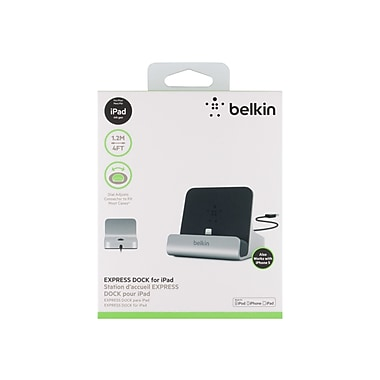 Belkin™ Flagship Express Dock For iPad, Black/Silver