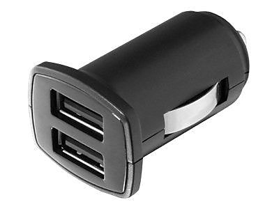 Aluratek Dual USB Auto Charger, Black